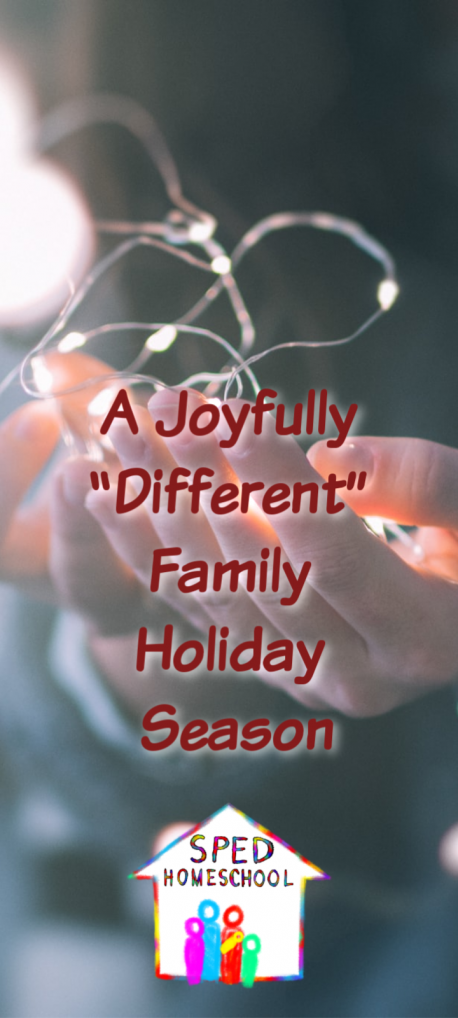 joyfully different holiday vertical image