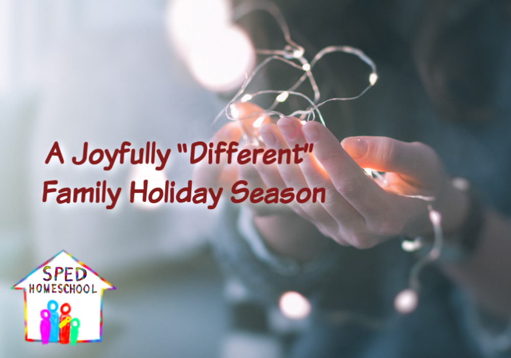 joyfully different holiday blog image